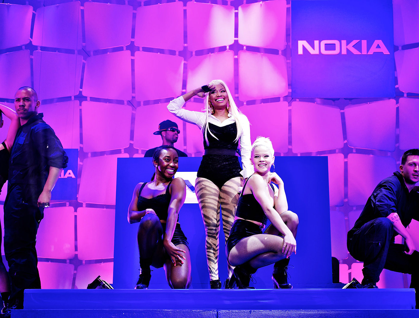 NOKIA BLUE BOX EVENT IN TIMES SQUARE WITH THE ONE AND ONLY NICKI MINAJ