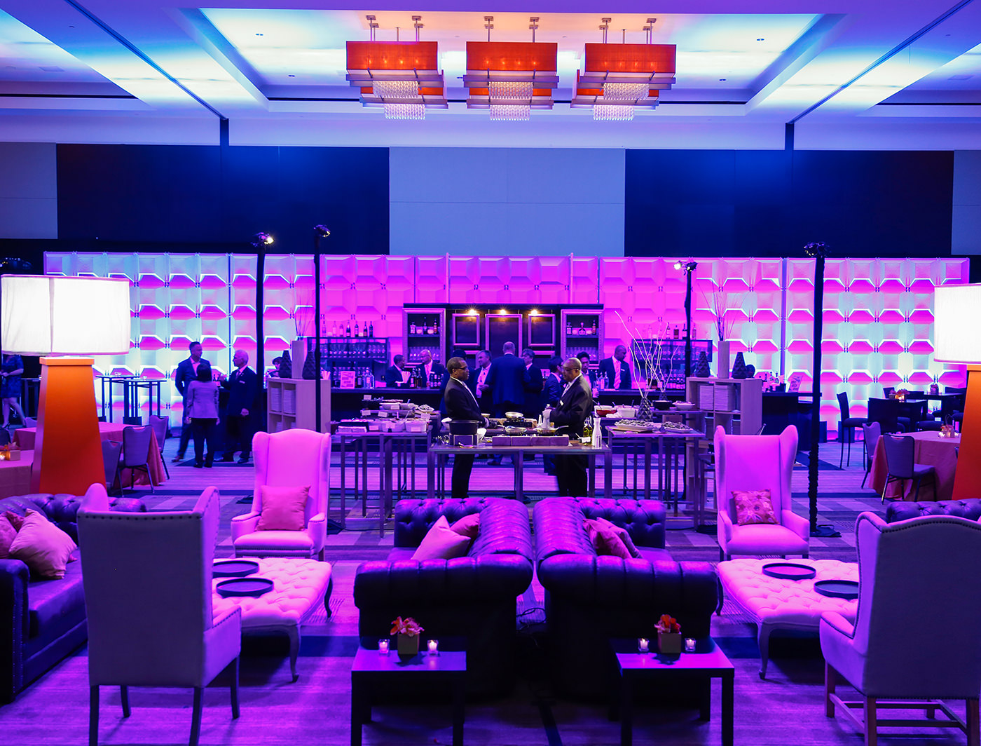 Chiclet SuperWall at a corporate event (Photo Credit: Extraordinary Events)