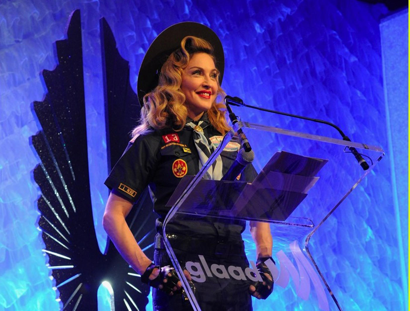 MADONNA AT THE GLAAD AWARDS IN NEW YORK - 2013