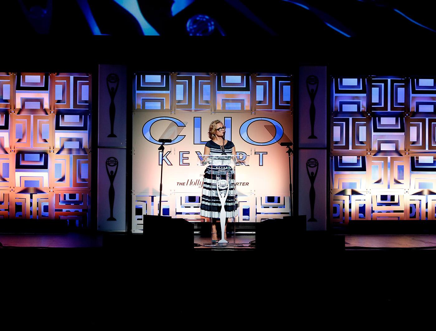 Buckle SuperWall on stage at Clio Key Art Awards (Photo Credit: Matthew Gavin)