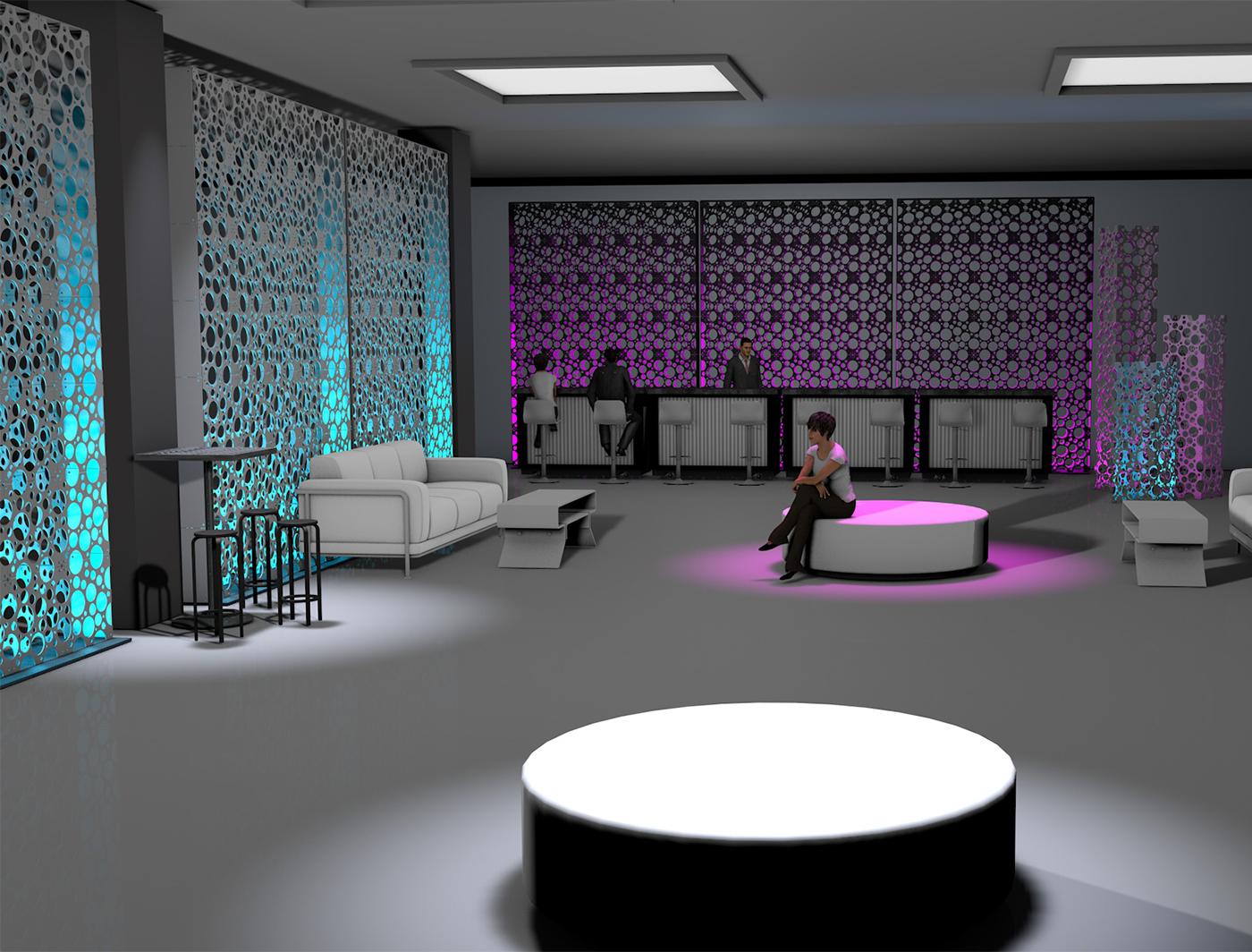 Fizz panels create a vibrant lounge space
