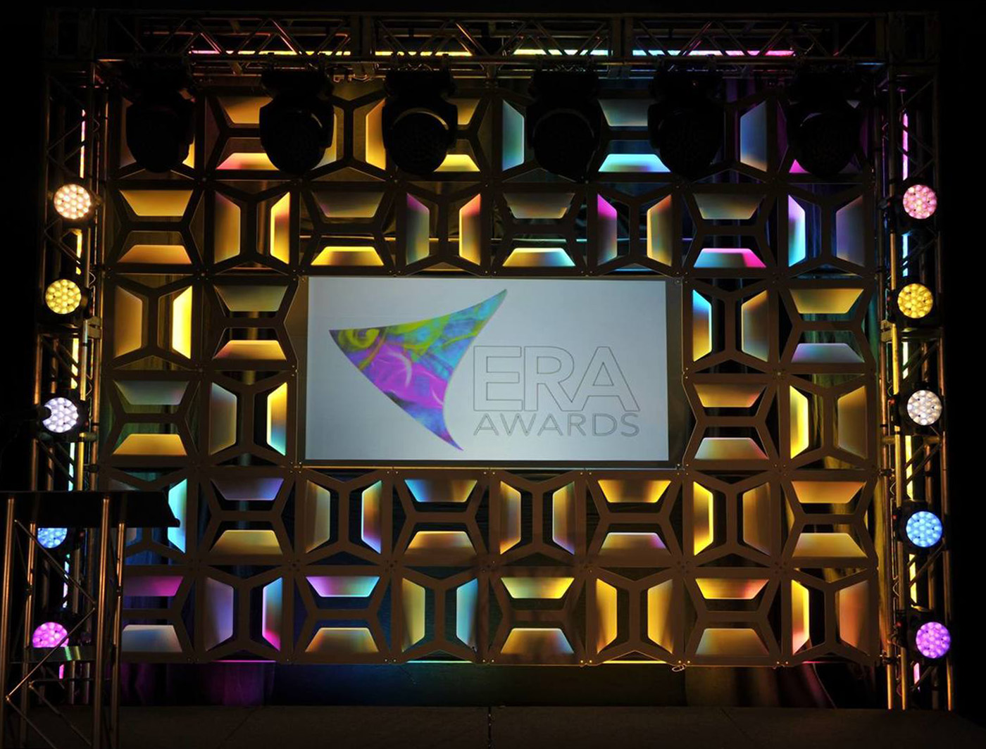 Hive blend with the era awards colorful theme