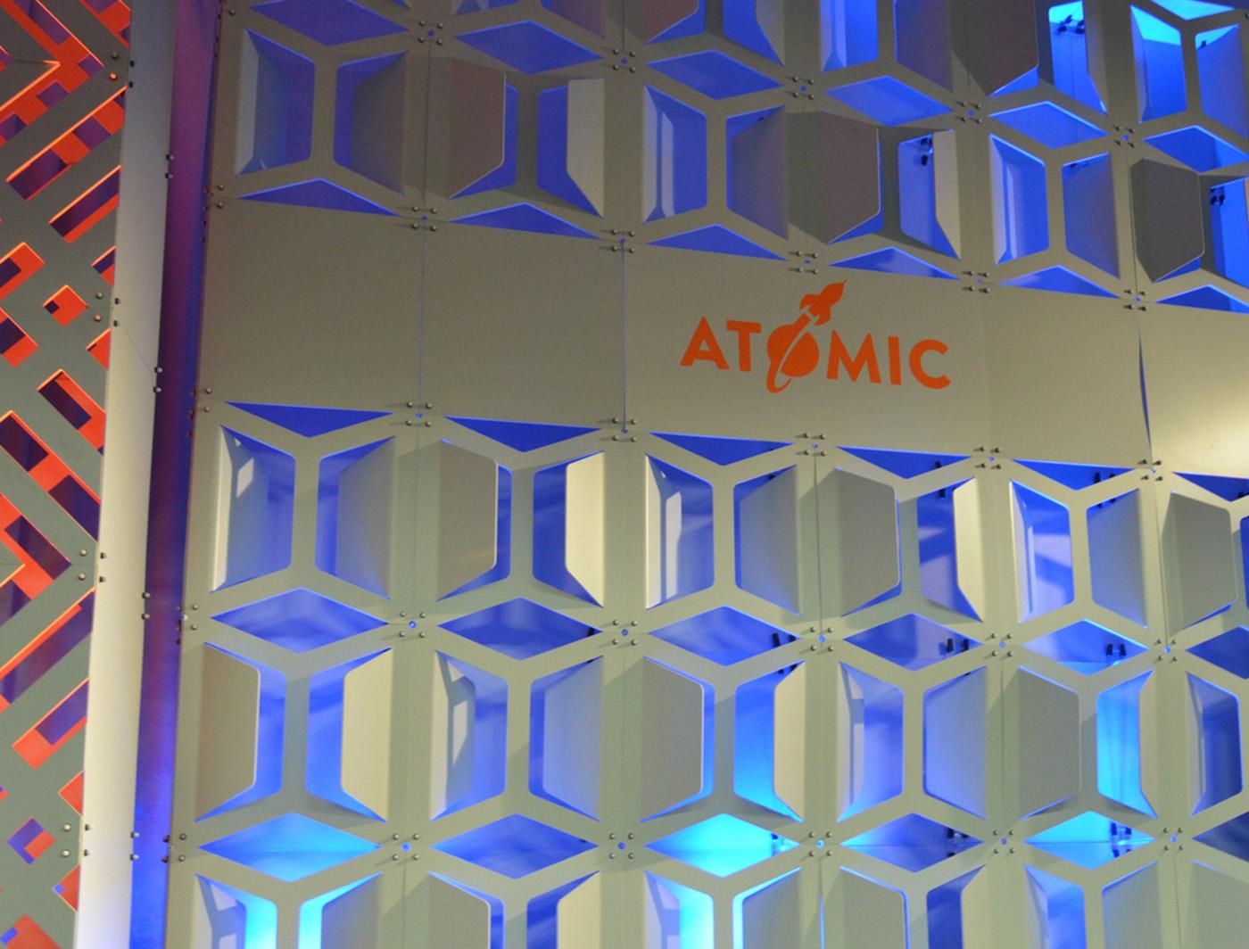 Hive SuperWall with Custom Vinyl Propane panels