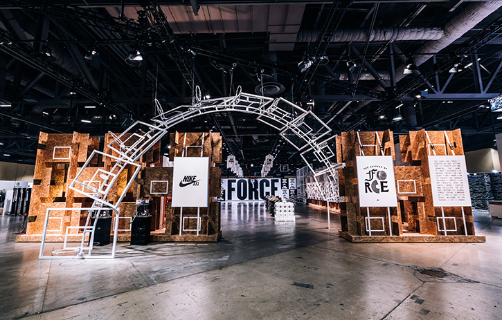 Exhibition Booth Area : Nike at complexcon atomic