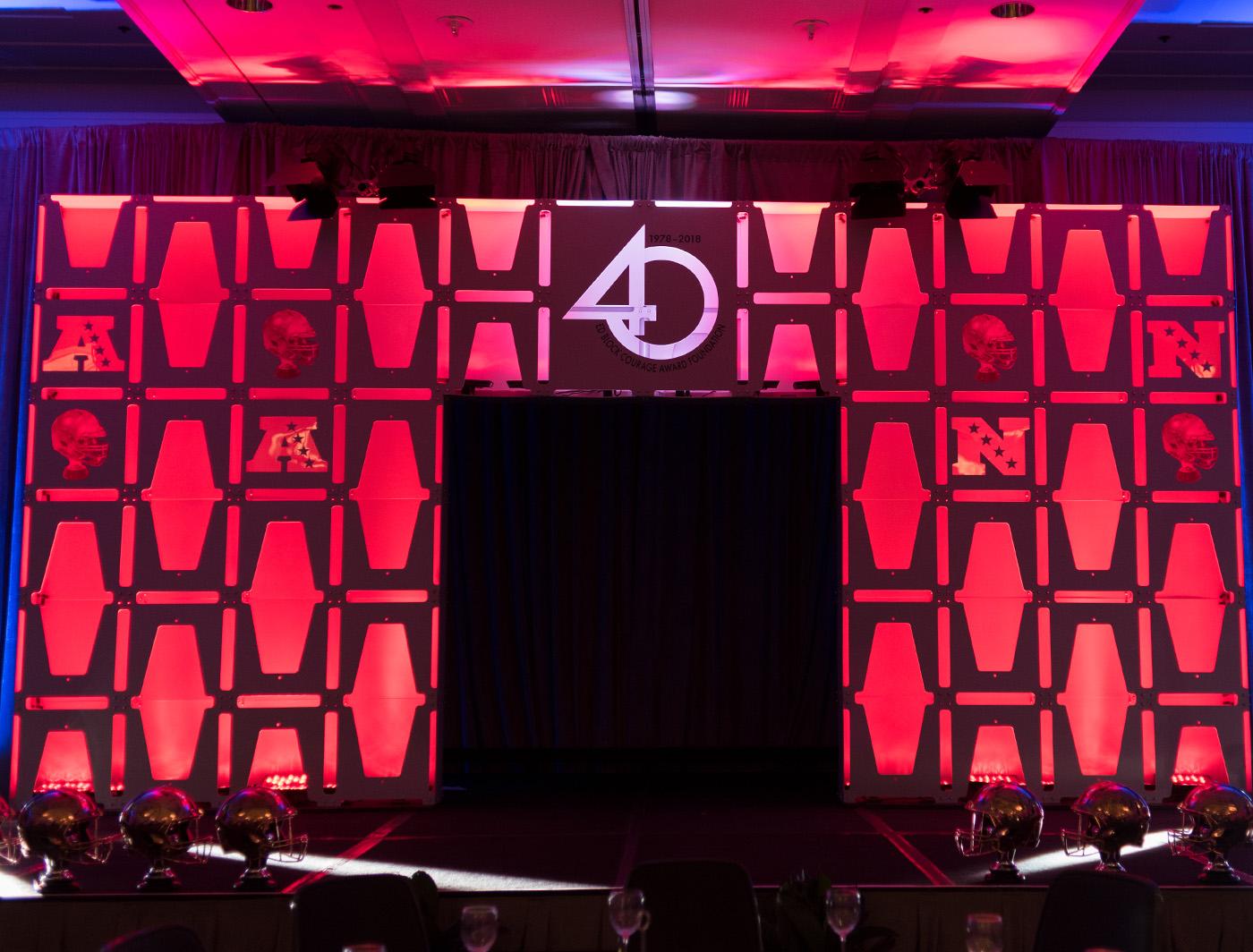 un-panel custom Superarch at the ed block awards