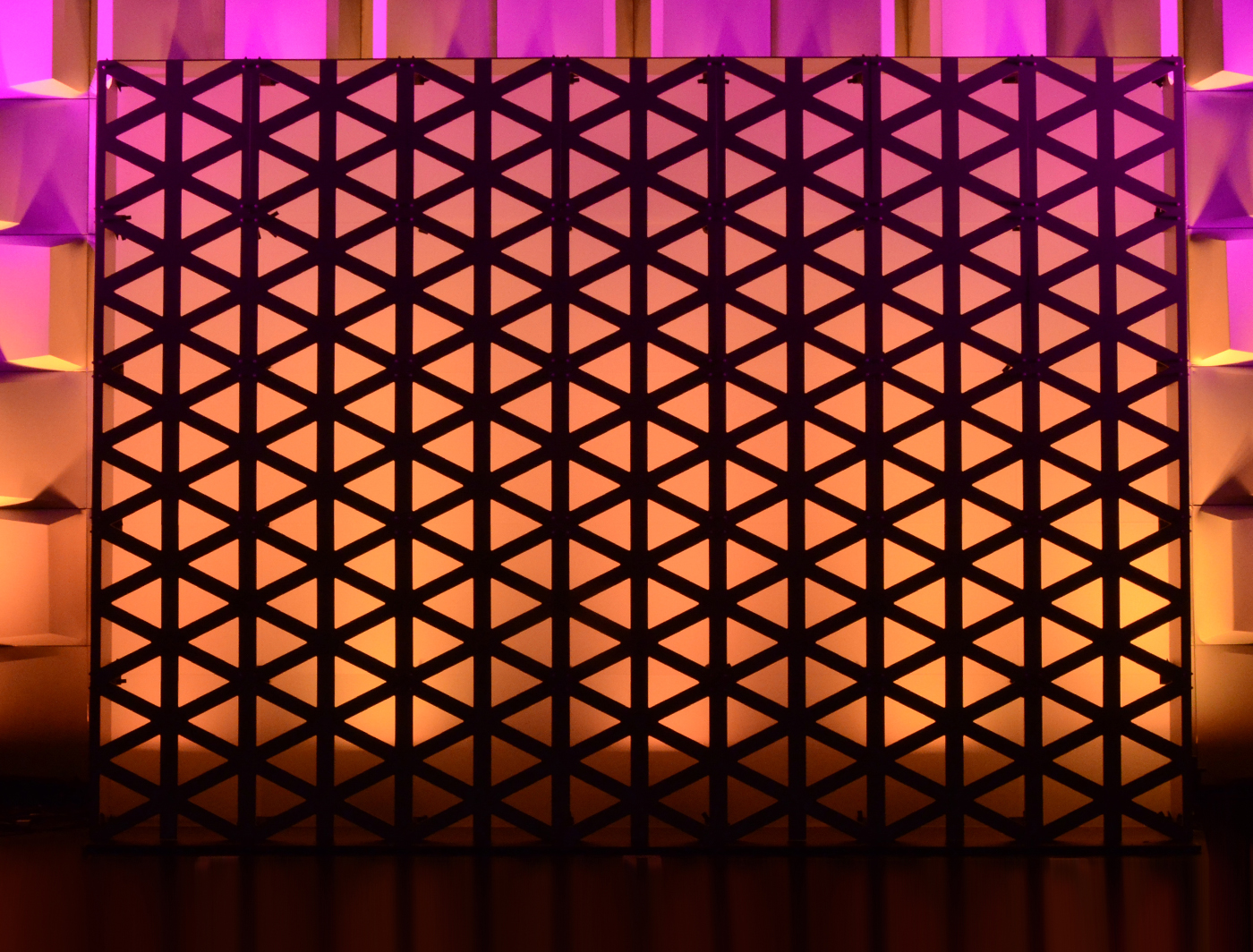 Triad SuperWall adds a beautiful pattern to this stage