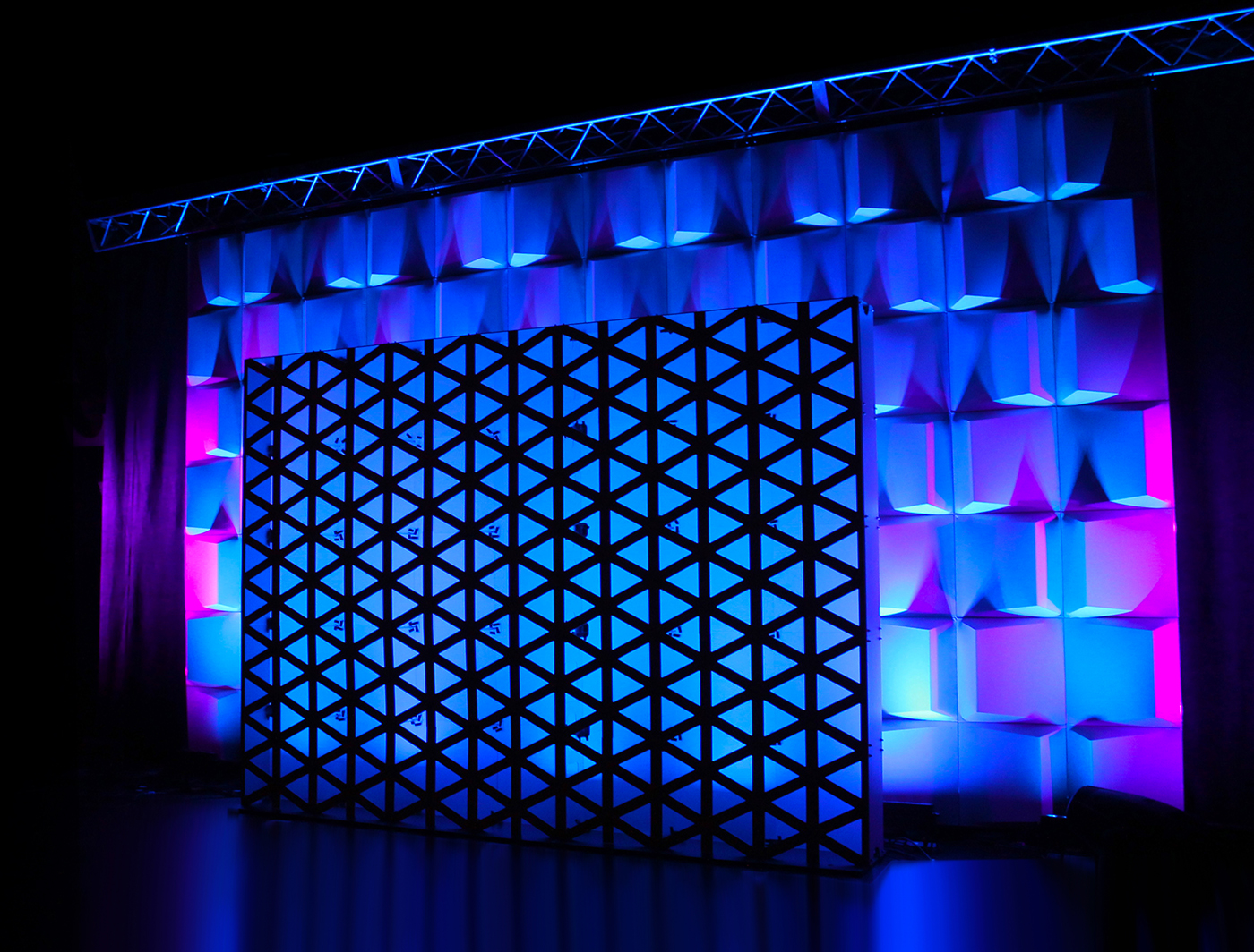 Triad SuperWall set the stage in front of this Wedge FABlok backdrop