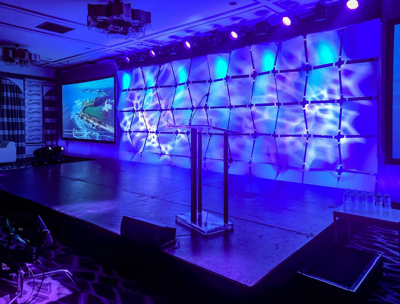 Wafer Panels made an impact onstage with projection and lighting