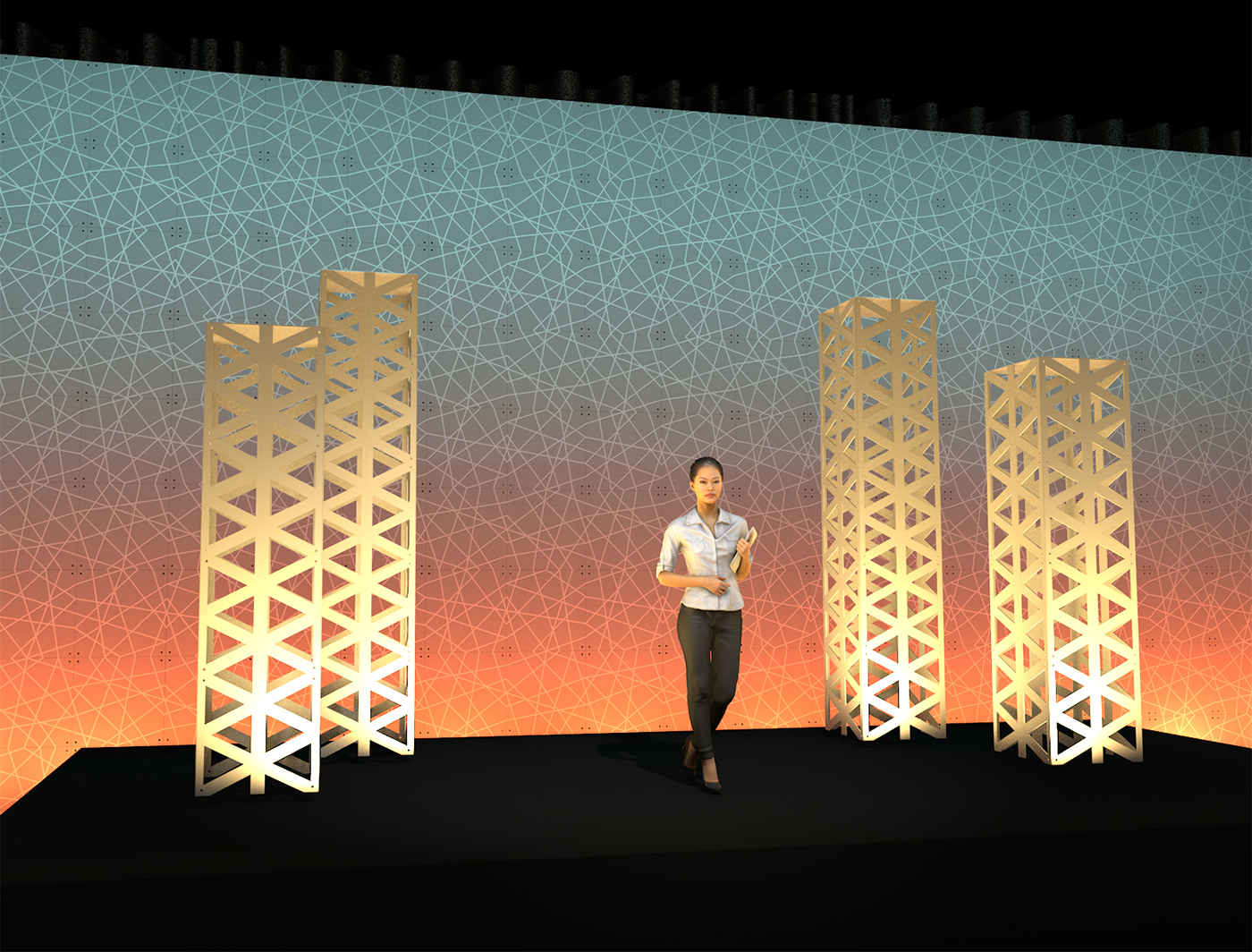 Groove Backdrop Looking Vibrant with Triad SuperColumns