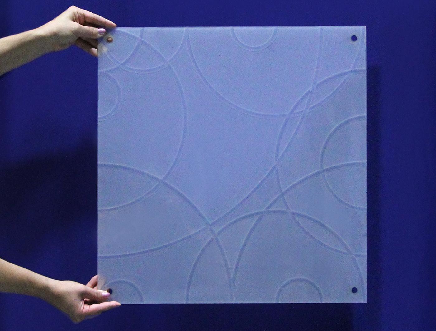 Swirl panel in natural light