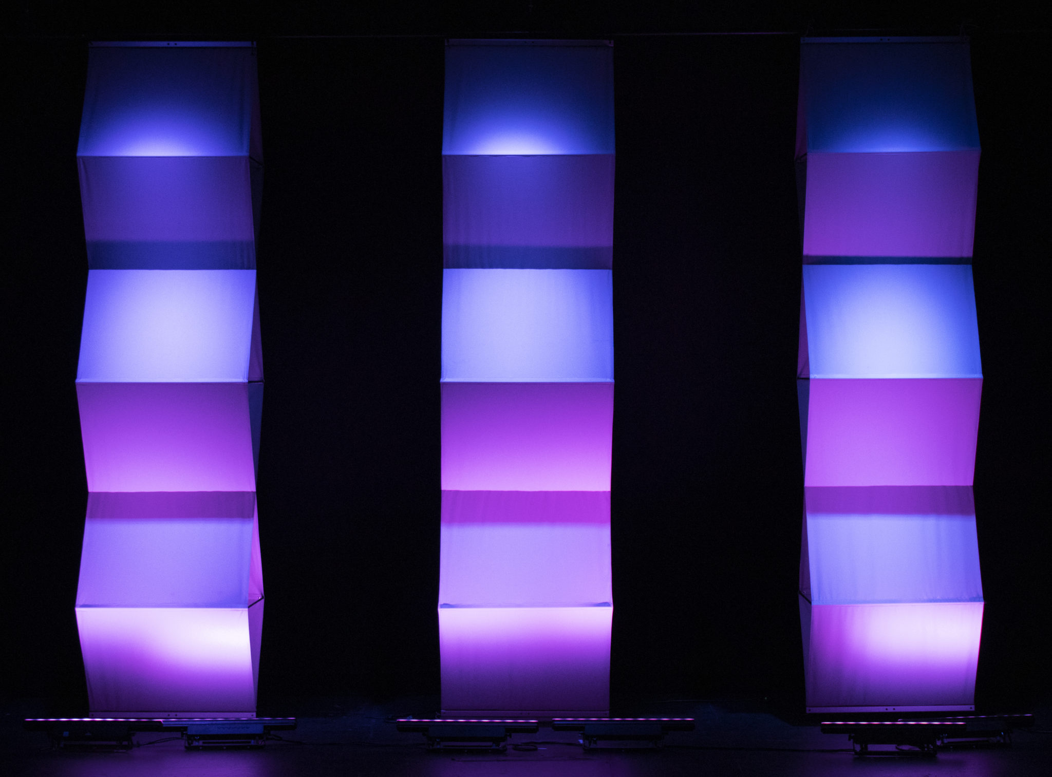 Yoga panels light well and add depth to your stage